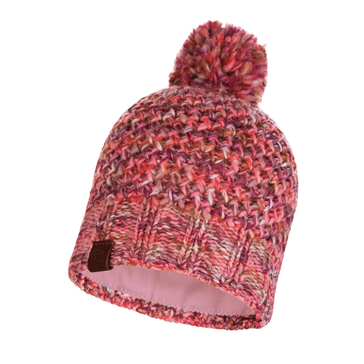 KNITTED & POLAR HAT MARGO FLAMINGO PINK