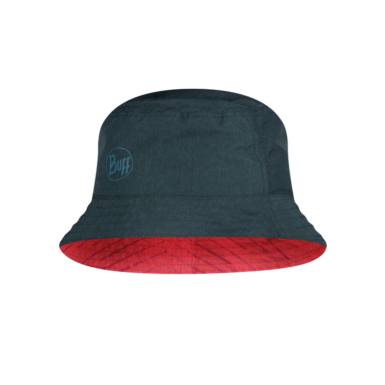 TRAVEL BUCKET HAT COLLAGE RED-BLACK TALLA  M/L