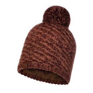 KNITTED & POLAR HAT AGNA RUSTY