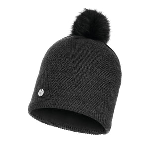 KNITTED & POLAR HAT DISA BLACK