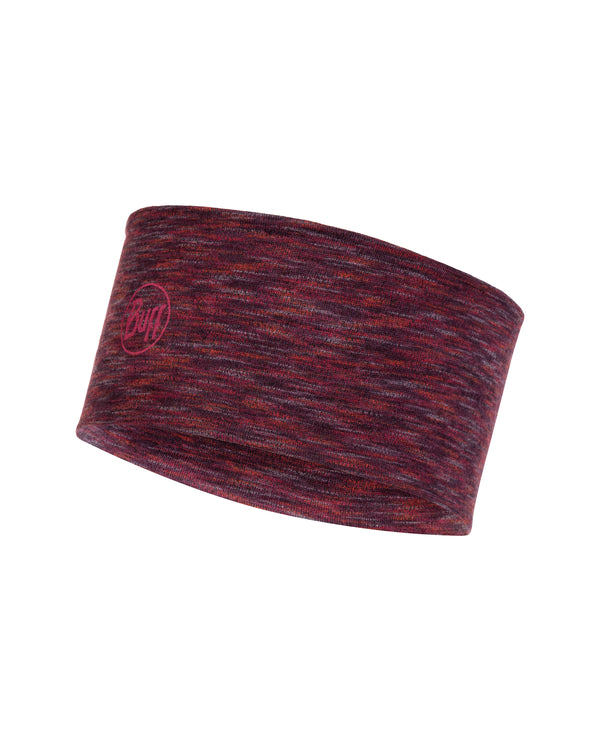 2L MIDWEIGHT MERINO WOOL HEADBAND SHALE GREY MULTI STRIPES