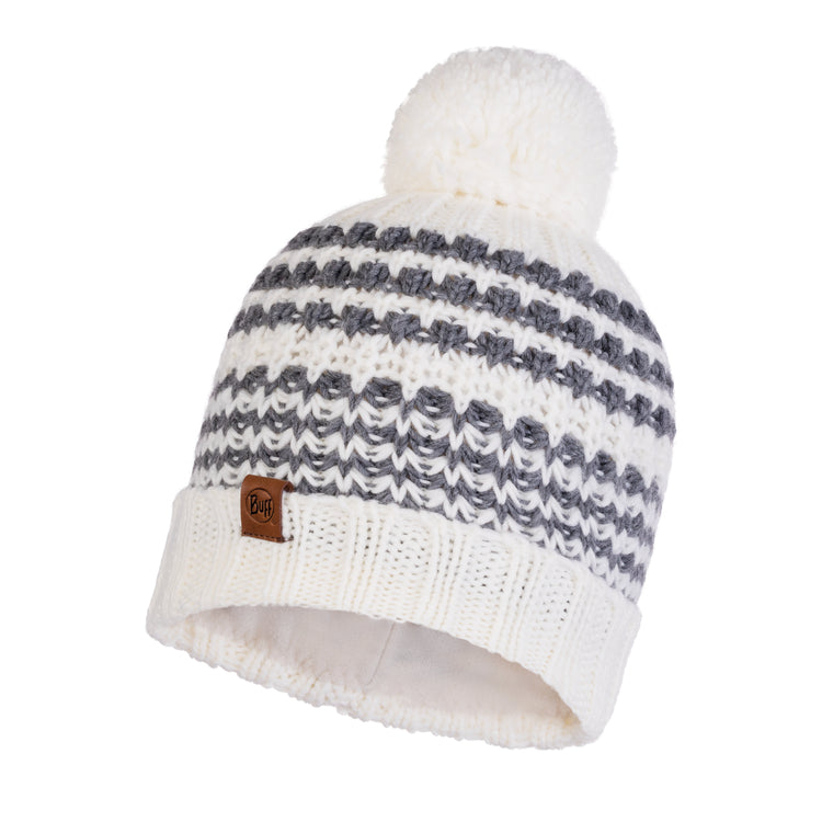 KNITTED & POLAR HAT KOSTIK WHITE