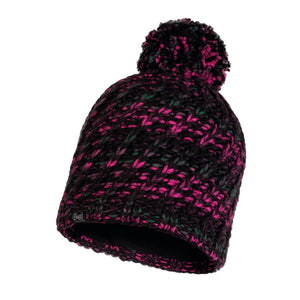 KNITTED & POLAR HAT VALYA BLACK