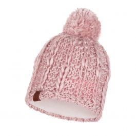 KNITTED & POLAR HAT LIV CORAL PINK