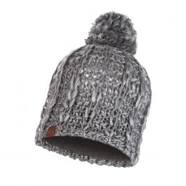 KNITTED & POLAR HAT LIV PEBBLE GREY