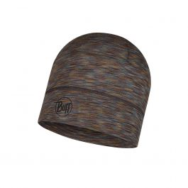 LIGHTWEIGHT MERINO WOOL HAT FOSSIL MULTI STRIPES