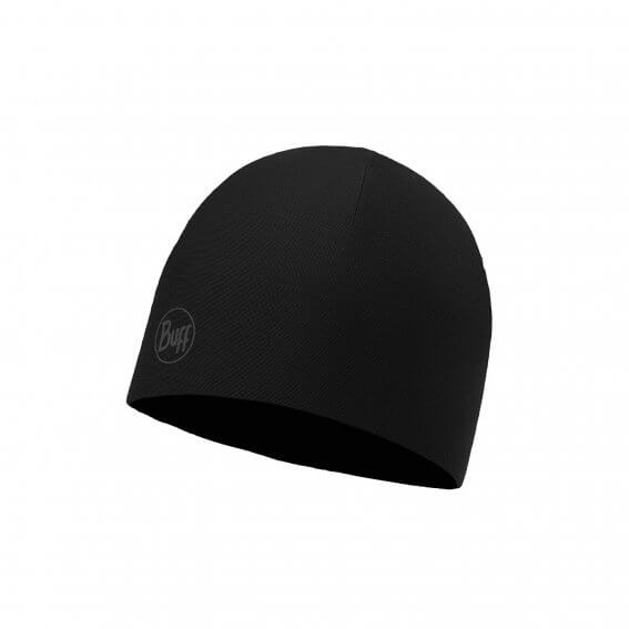 MICROFIBER REVERSIBLE HAT SOLID BLACK