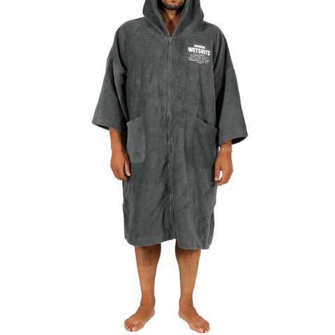 PONCHO ZIP MAN GREY