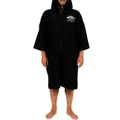 PONCHO ZIP MAN BLACK