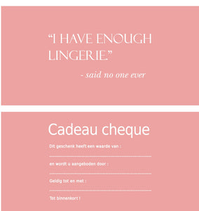 Gift Card - Pink Lingerie