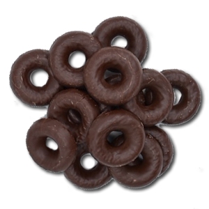 Belgian Chocolate Raspberry Jelly Rings 1/4 lb.