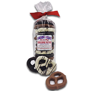 Belgian Chocolate Dipped Pretzels