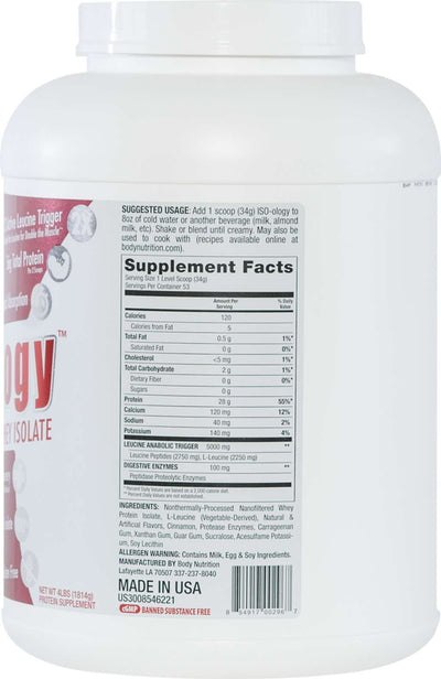 ISO-ology: 100% Leucine-Enhanced Whey Isolate - CinnaBun - 4lb (53 Servings)