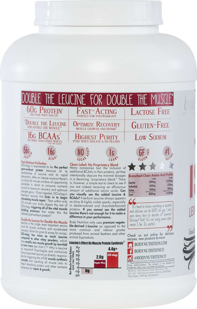 ISO-ology: 100% Leucine-Enhanced Whey Isolate - Vanilla Bean - 4lb (53 Servings)