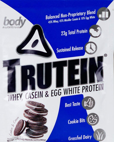 Trutein Protein: 45% Whey, 45% Casein & 10% Egg White - Cookies & Cream - Sample (34g)