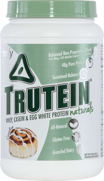 Trutein NATURALS: The Original Trutein Made All-Natural! -CinnaBun- 2lb (27 Servings)