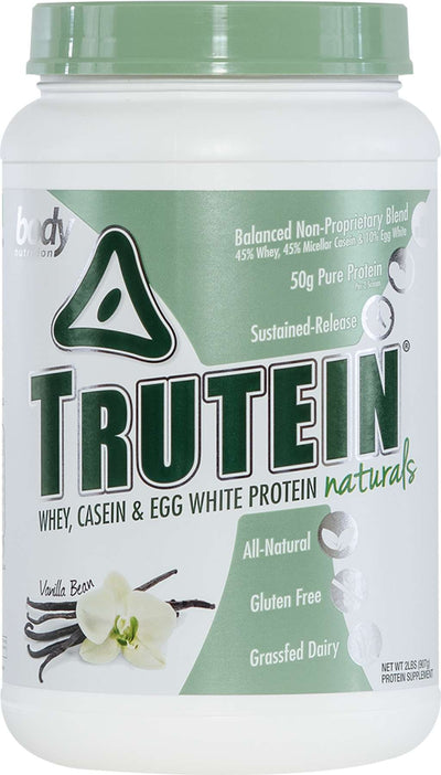 Trutein NATURALS: The Original Trutein Made All-Natural! - Vanilla Bean - 2lb (27 Servings)
