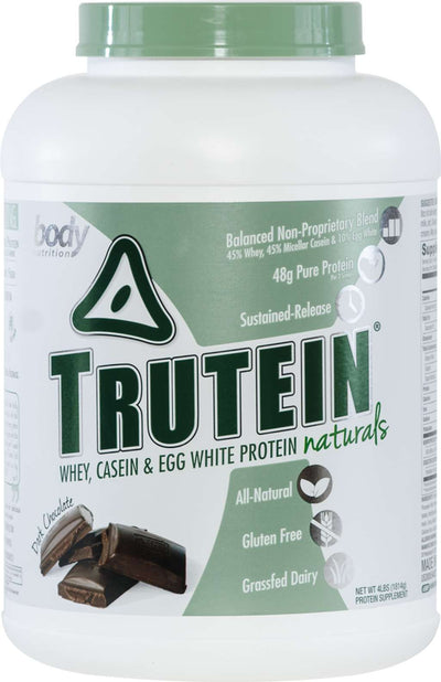 Trutein NATURALS: The Original Trutein Made All-Natural! - Dark Chocolate - 4lb (53 Servings)