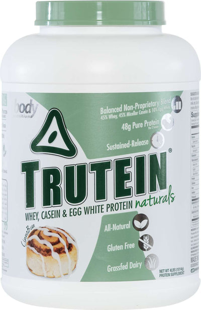 Trutein NATURALS: The Original Trutein Made All-Natural! - CinnaBun - 4lb (53 Servings)