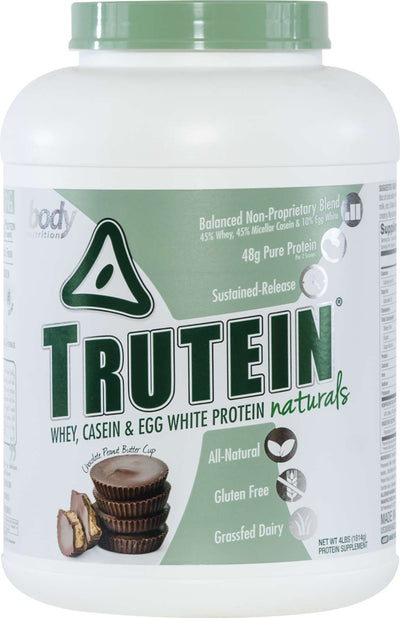 Trutein NATURALS: The Original Trutein Made All-Natural! - Chocolate-Peanut Butter Cup - 4lb (53 Servings)