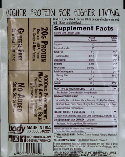 Gardenia: All-Natural Vegan Protein - Mocha - Sample (34g)