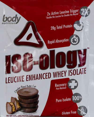 ISO-ology: 100% Leucine-Enhanced Whey Isolate - Chocolate Peanut Butter Cup- Sample (36g)