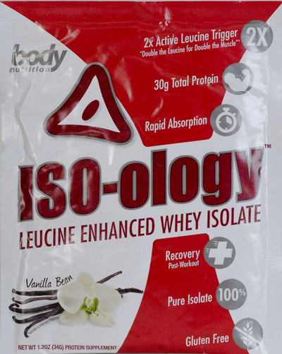 ISO-ology: 100% Leucine-Enhanced Whey Isolate - Vanilla Bean- Sample (36g)
