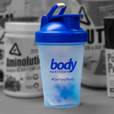 Body nutrition 13.5oz shaker bottle for sports supplement shakes