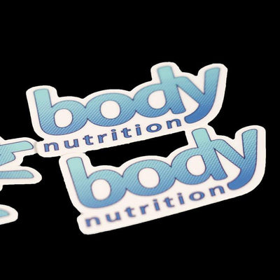 body nutrition logo peel and stick sticker for journals, bottles