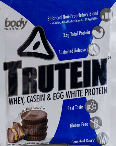Trutein Protein: 45% Whey, 45% Casein & 10% Egg White - Chocolate-Peanut Butter Cup - Sample (34g)