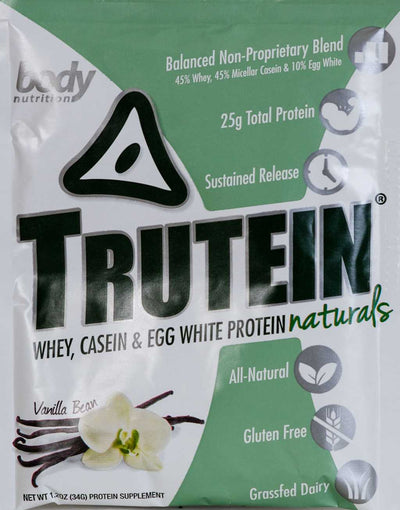 Trutein NATURALS: The Original Trutein Made All-Natural! -Vanilla Bean - Sample (34g)