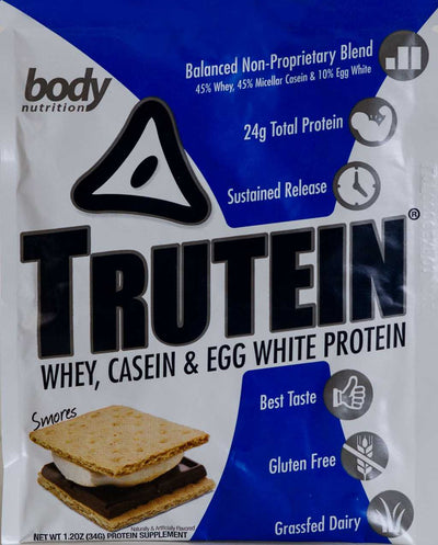 Trutein Protein: 45% Whey, 45% Casein & 10% Egg White - Smores - Sample (34g)