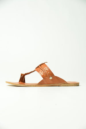 Brown leather Chapal