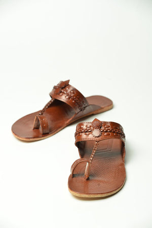 Dark Brown leather Chapal
