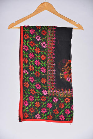 Black Embroidered Duppata 3
