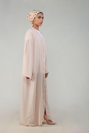 Neutral Beige Georgette Modest Cape