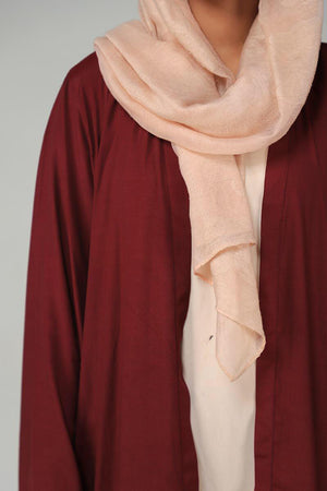 Maroon Georgette Modest Cape