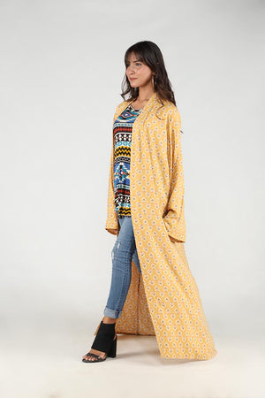 Yellow Moroccan Motif Cape