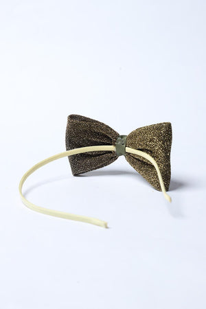Olive Green Shimmer Bow Headband