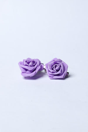 PURPLE ROSETTE HAIRCLIP