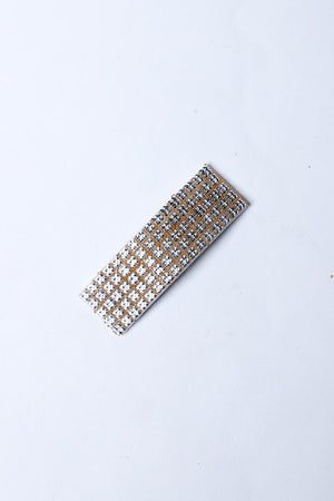 SILVER DIAMANTE HAIR BARRETT (Pack of 3)