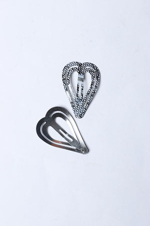HEART SHAPED ABSTRACT SNAP HAIR CLIP