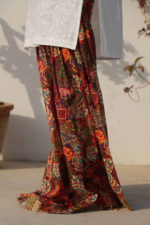 Abstract Patchwork Print Gharara