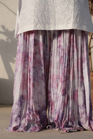 Shades of Purple Tie and Dye Gharara