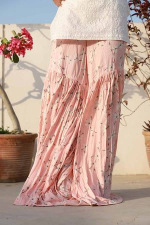 Light Pink Forest Florals Gharara