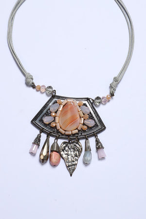 Statement Necklace with Stone Embellishment