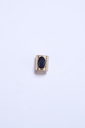 Black Stone Ring with Gold Tone Finish