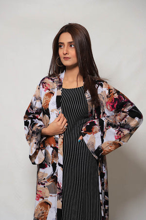 Abstract Retro Malai Lawn Cape