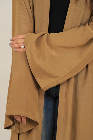Olive Green Georgette Modest Cape