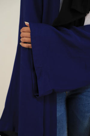 Blue Georgette Modest Cape